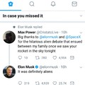 Elon Musk backing up my homie aliens xD