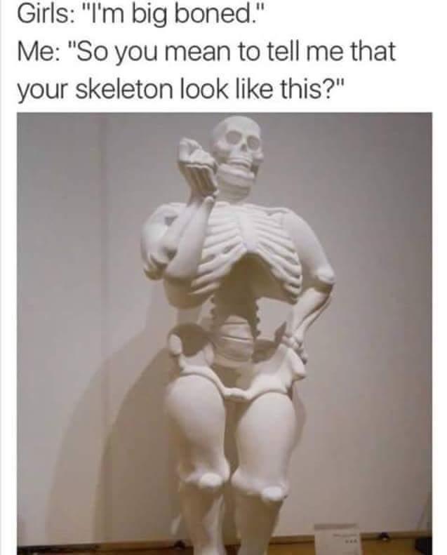 Bones in batchc's dong - meme