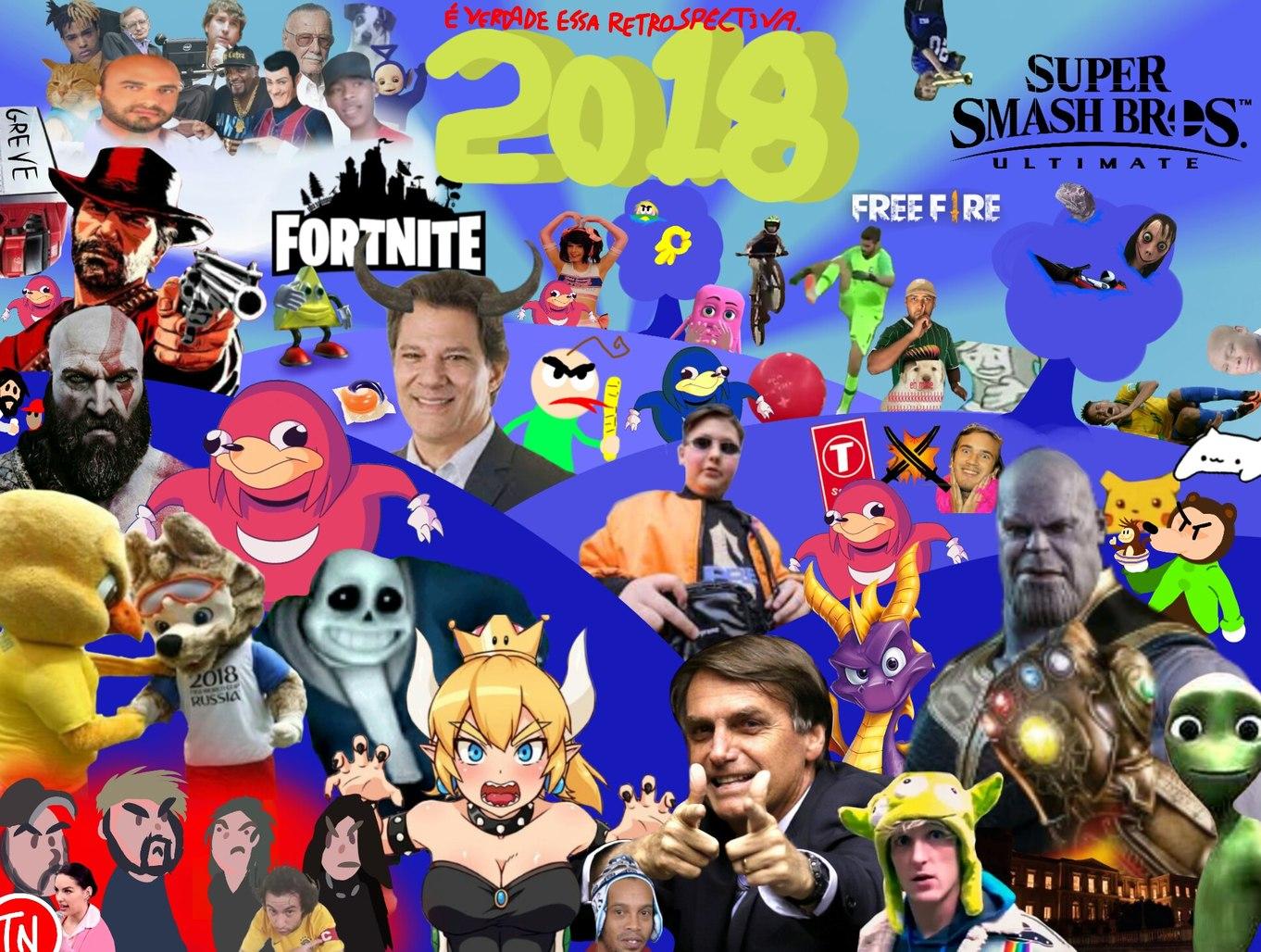 2018 foi louco - meme