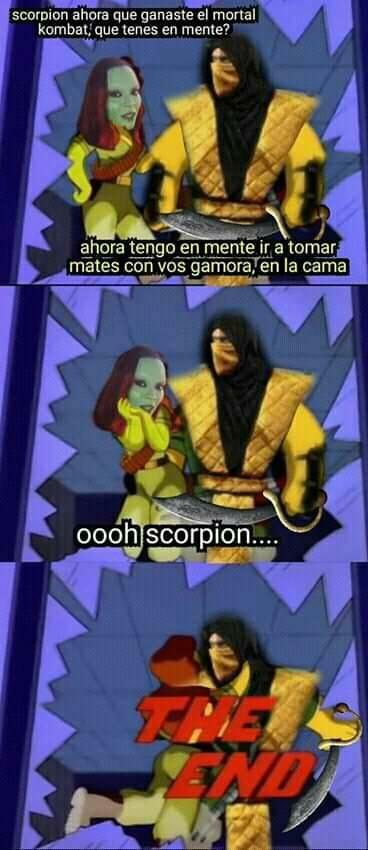 Spoiler de Endgame...Gamora toma mates con Scorpion - meme