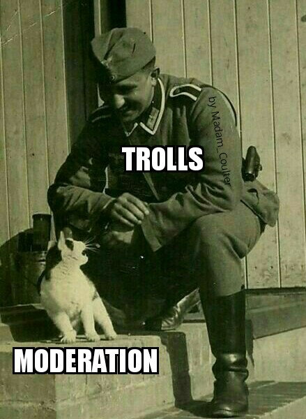 We will break Moderation - meme