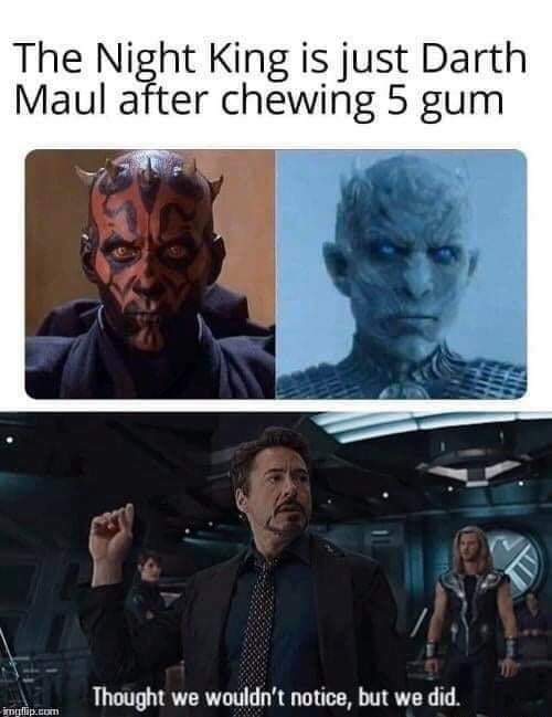 Night King/Maul would've been UNSTOPPABLE - meme