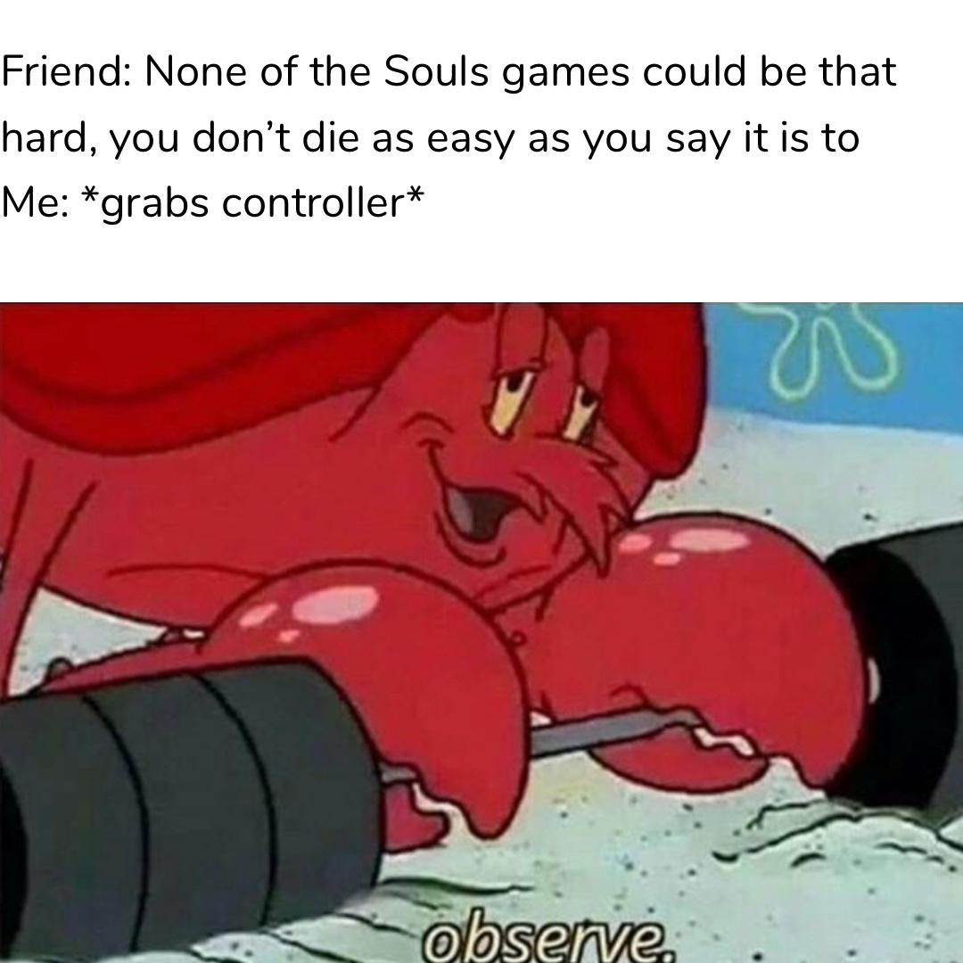 Observe me die at gargoyles - meme
