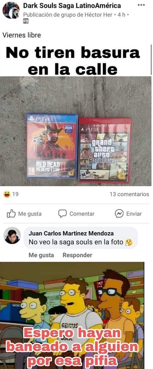 La Saga Souls - meme