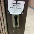 Emergency phone is out of service