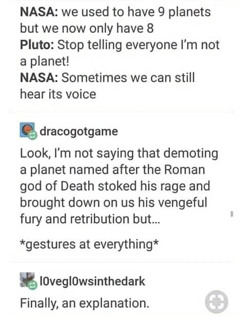 That explains quite a bit - meme