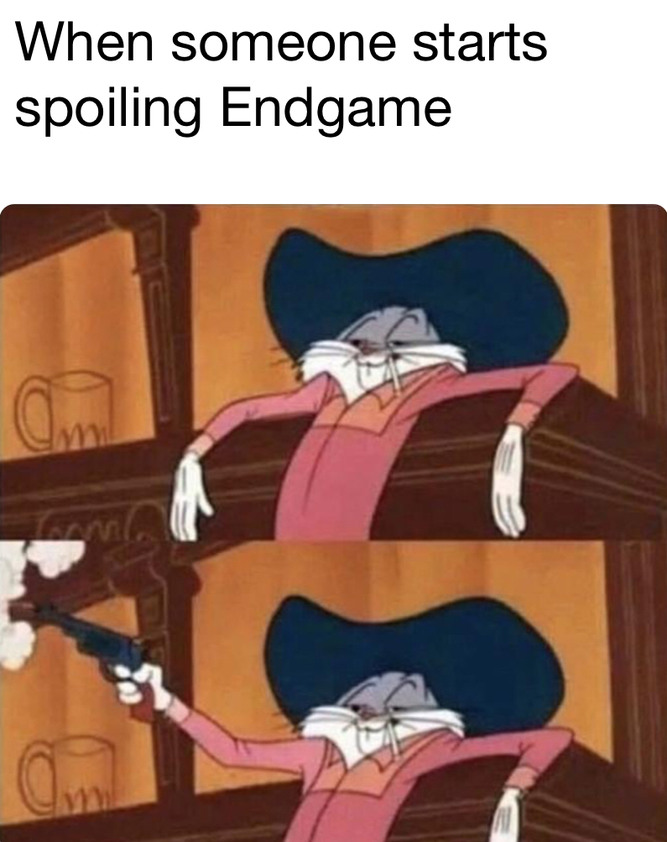 When someone spoils endgame - meme