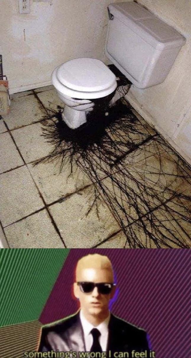 Looks like some horror movie's toilets - meme