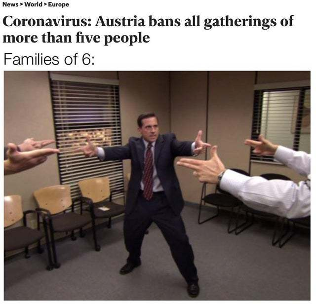 Coronavirus: Austra bans all gatherings of more than five people - meme