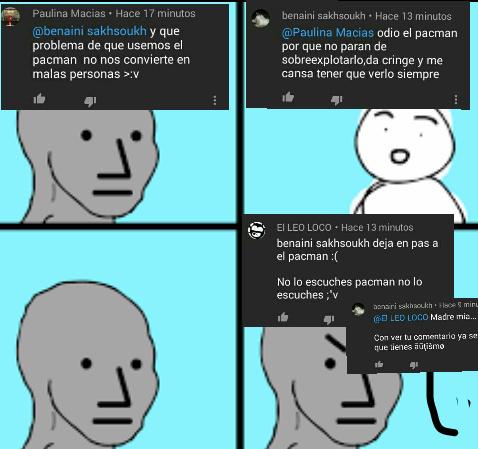 Tremendos autistas los que se ponen a llorar solo por que odio el pacman - meme