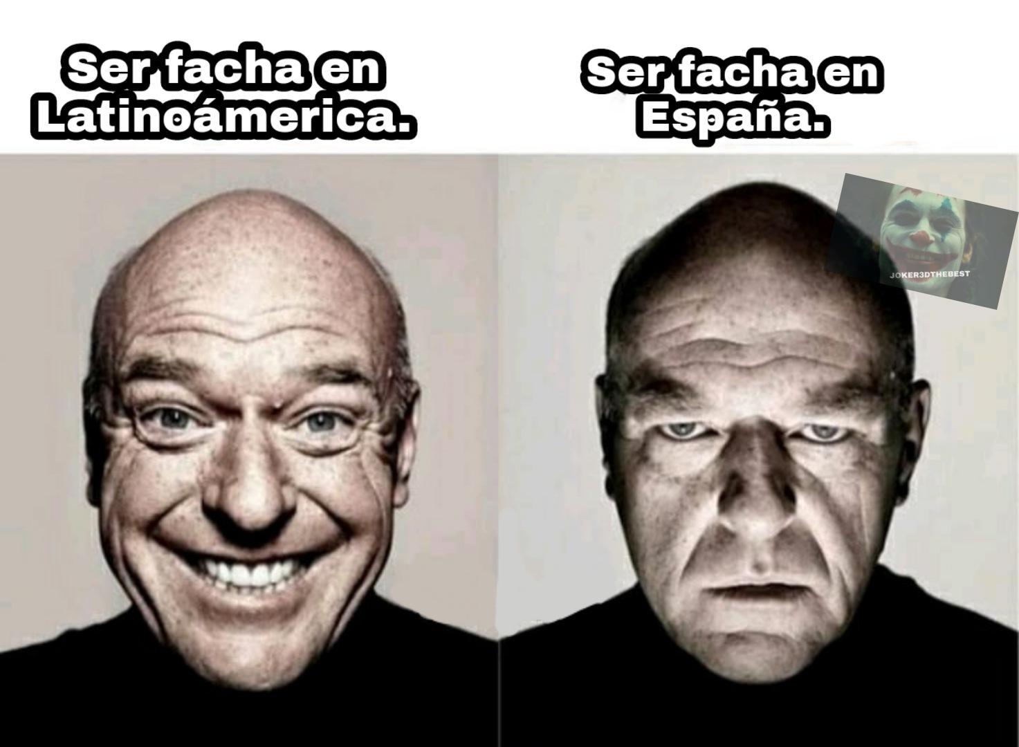 En España facha=fascista - meme