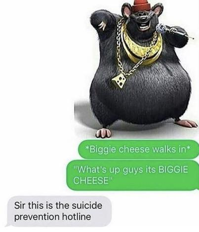 biggie cheese in the house - meme