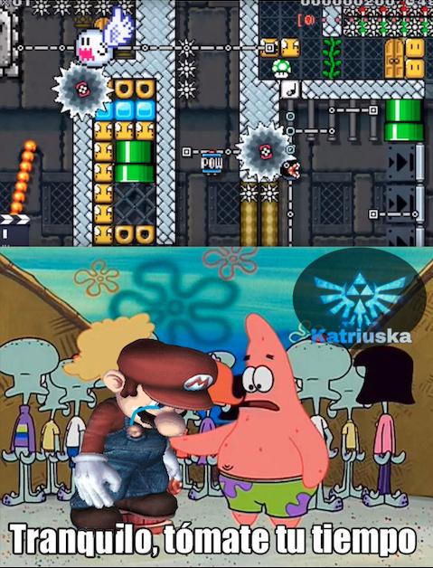 Típica fase imposible de Mario Maker.. - meme