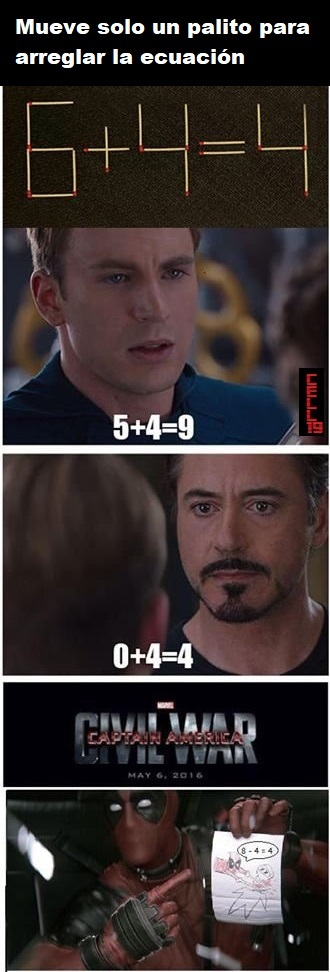 Un poco de matemáticas - meme
