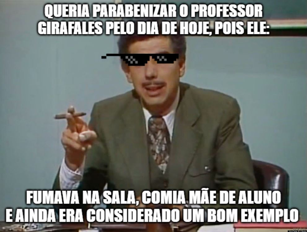 Dia do Professor - meme
