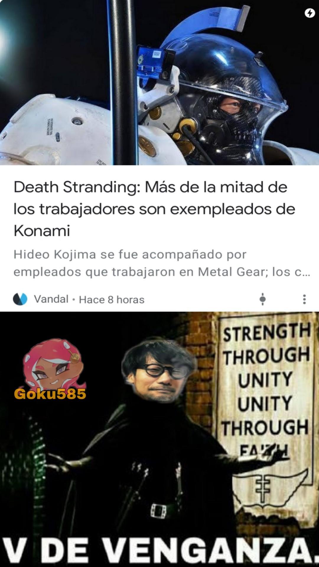 Explicación: Konami despidió a Kojima - meme