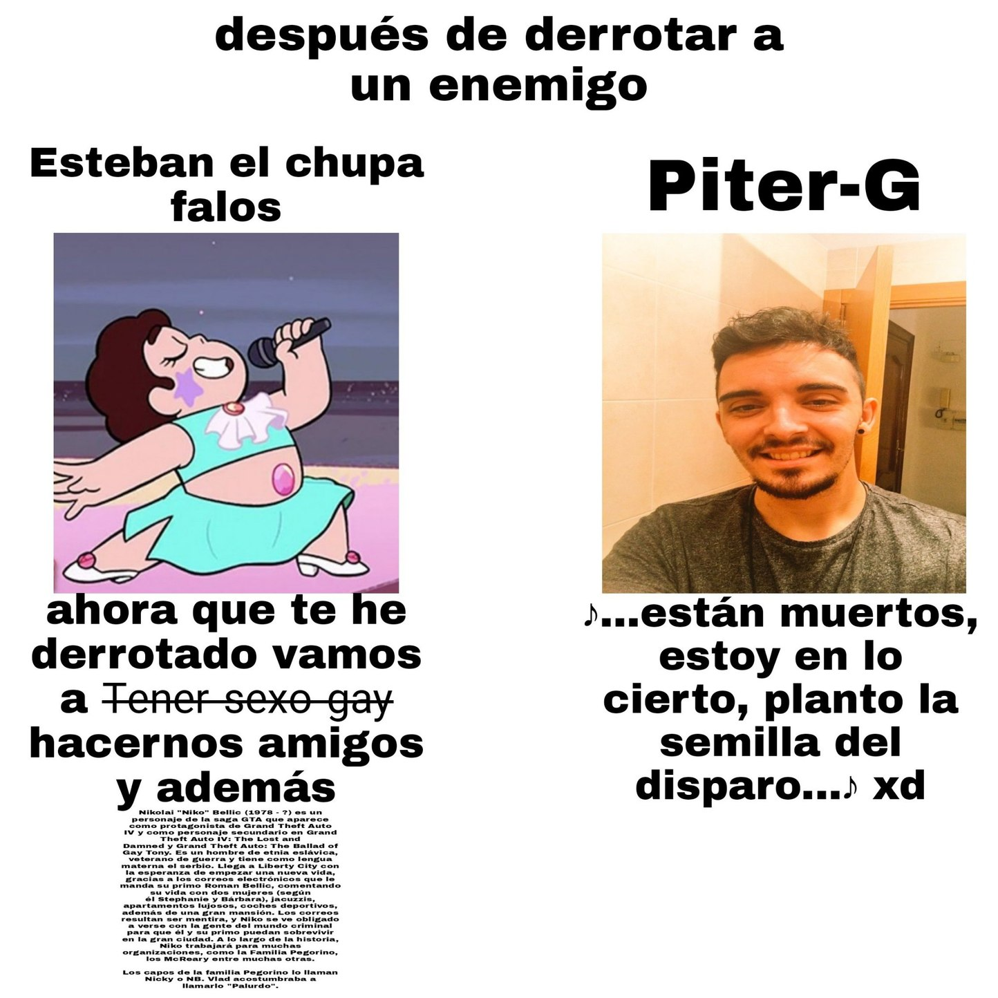 Re crack el Piter Griffin - meme