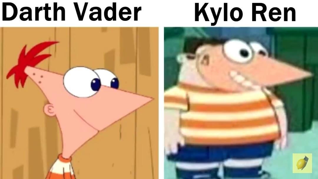 Chad vader vs virgin ren - meme