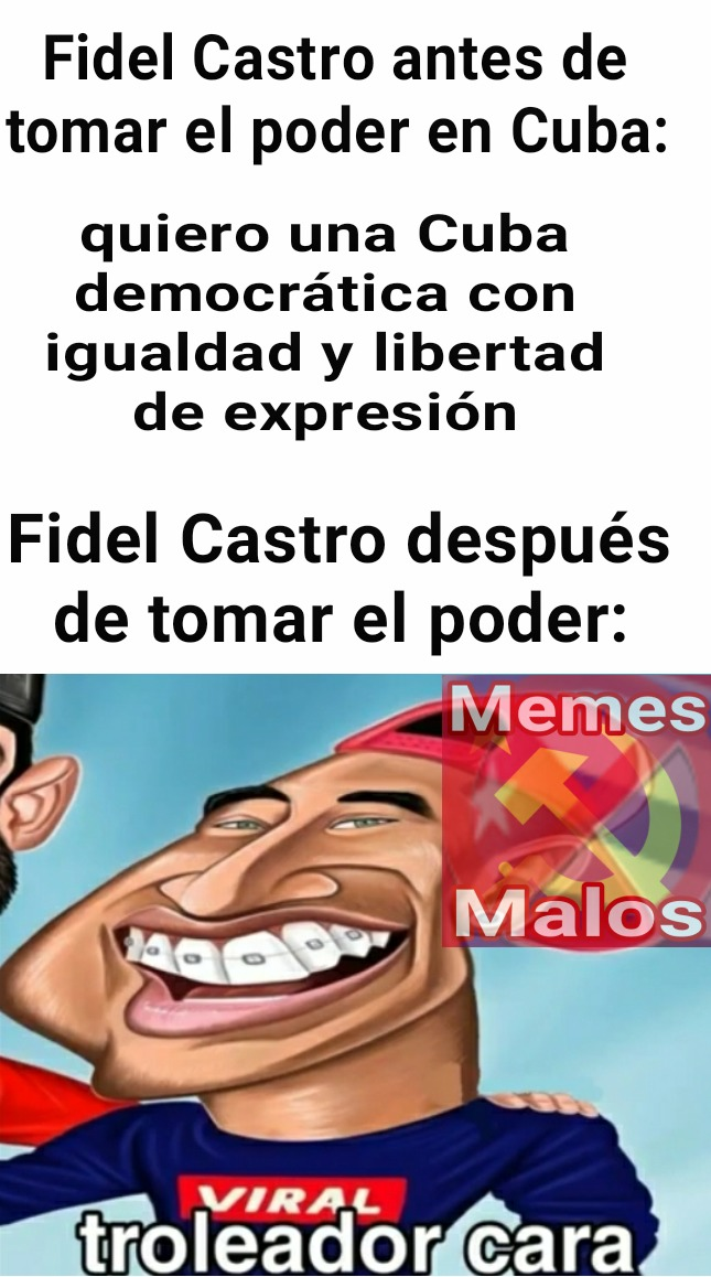 "Whn Cuba but Fidel Castro :""V - meme"