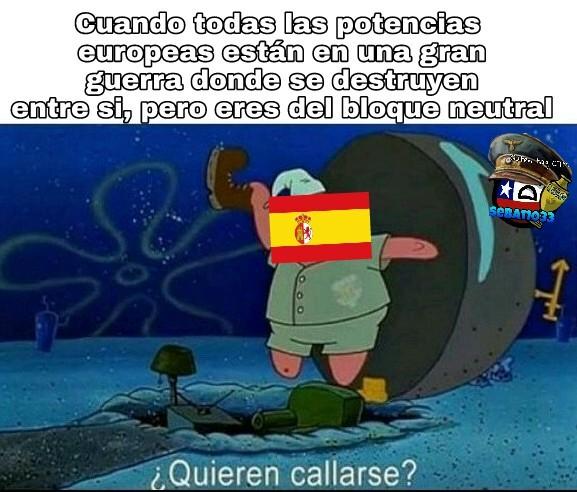 La timida España - meme