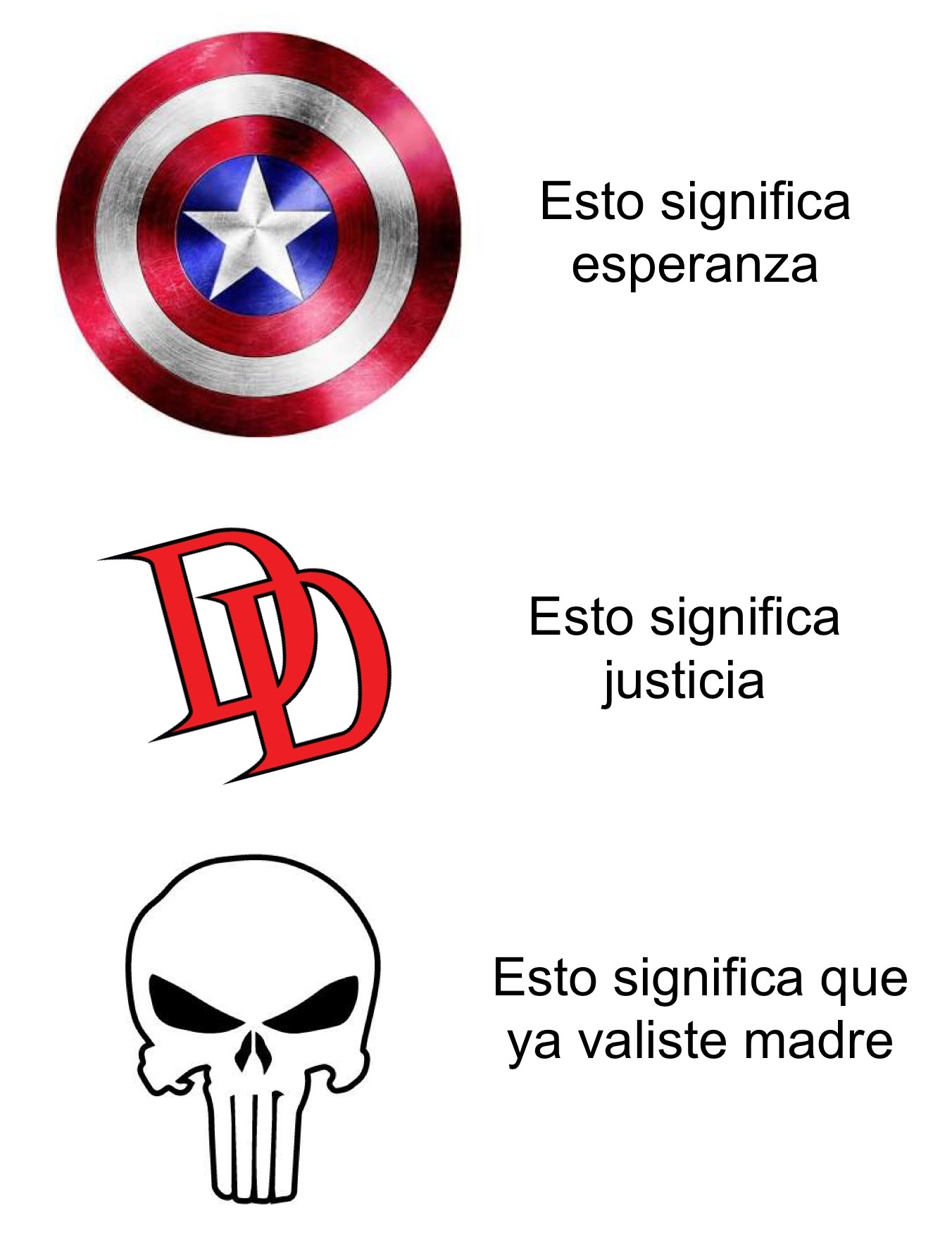 Ya valiste punisher - meme
