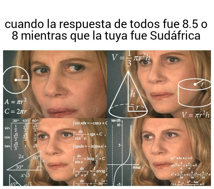 Confused math lady - meme