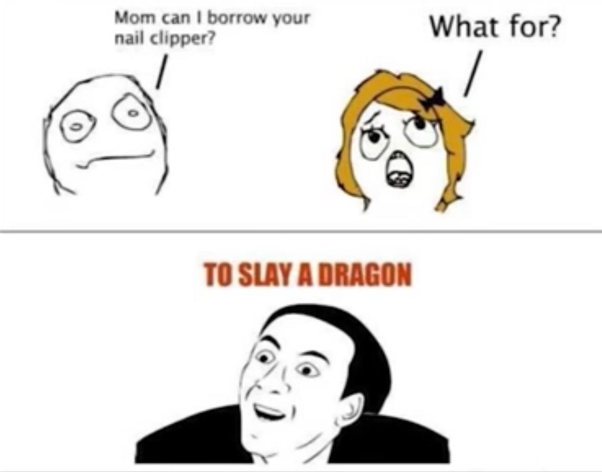 Dragon slayer - meme