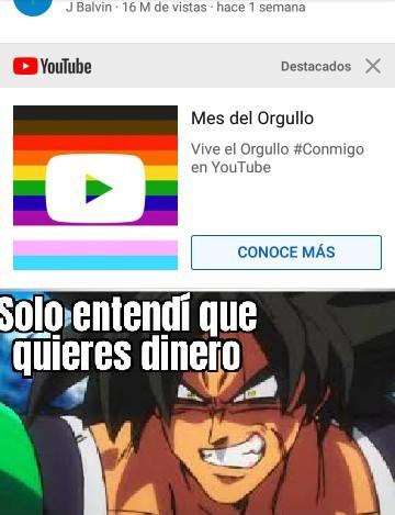 Se me cayó el Youtube porque :( - meme