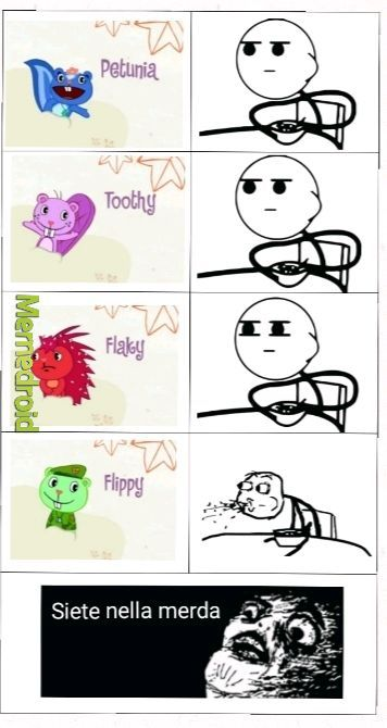 La logica di Happy Tree Friends - meme