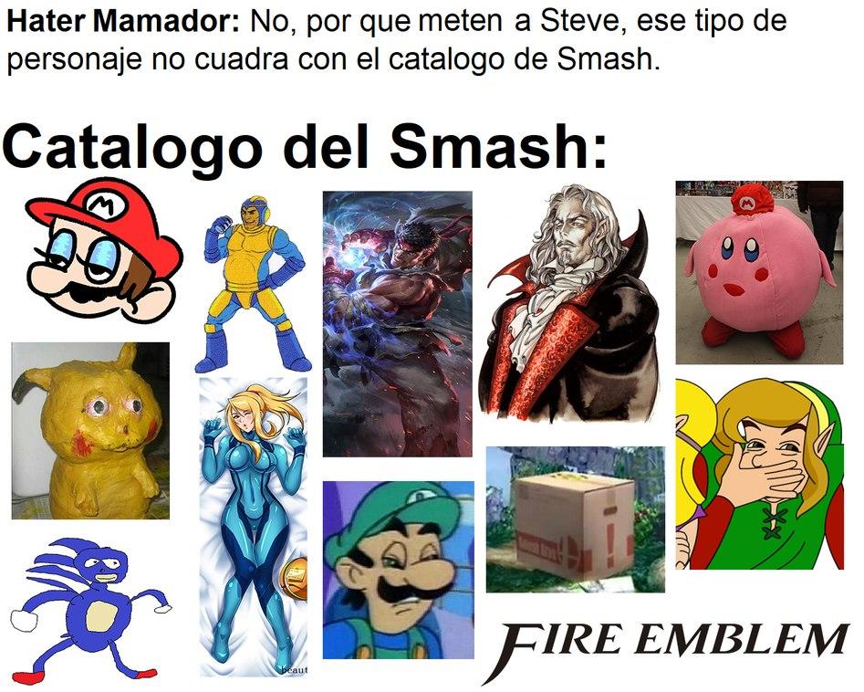 El vato que se queja por que Steve no tiene similitudes a los personajes de Fire Emblem :v - meme