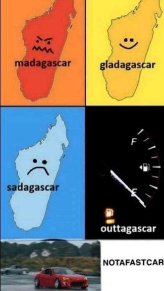 Different kinds of madagascar - meme