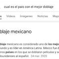 Para los que no sepan acaban de prohibir el doblaje de México por una estupidez