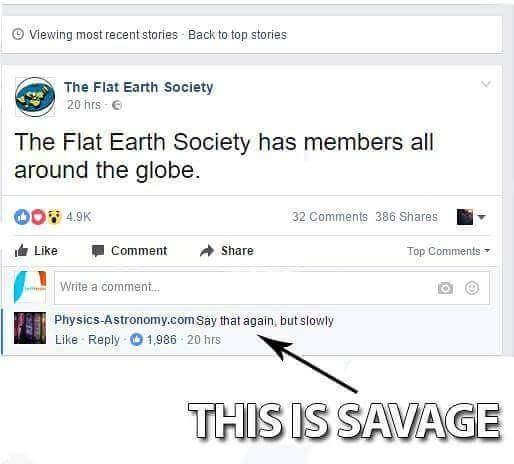 The Earth is flat - meme