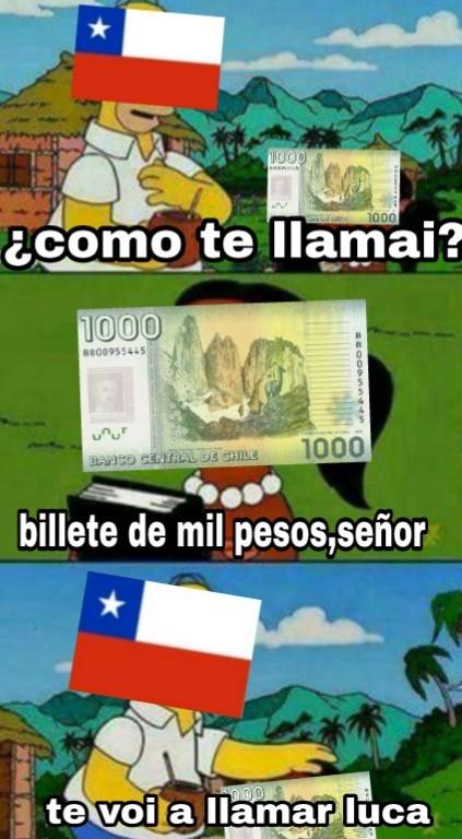 La moneda oficial de chile es la luka - meme