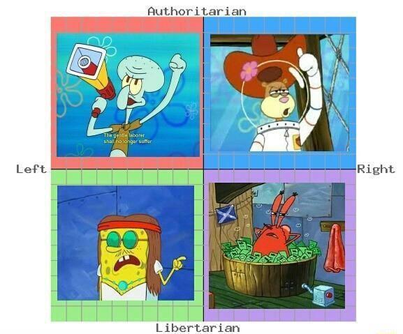 O mais acurado sistema de escala política - meme