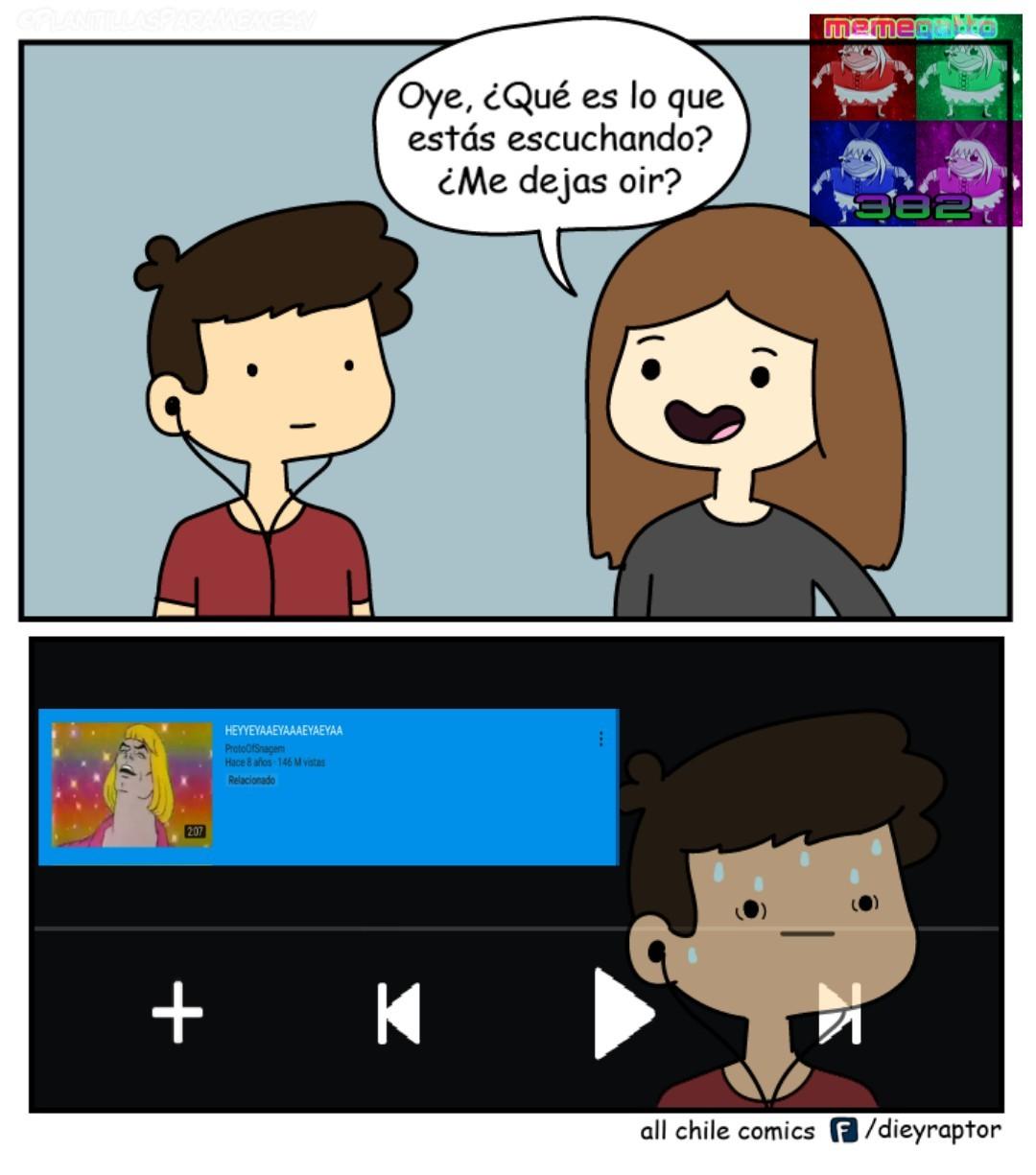 Yo tengo youtube azul - meme