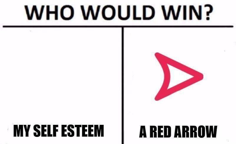 a red arrow - meme