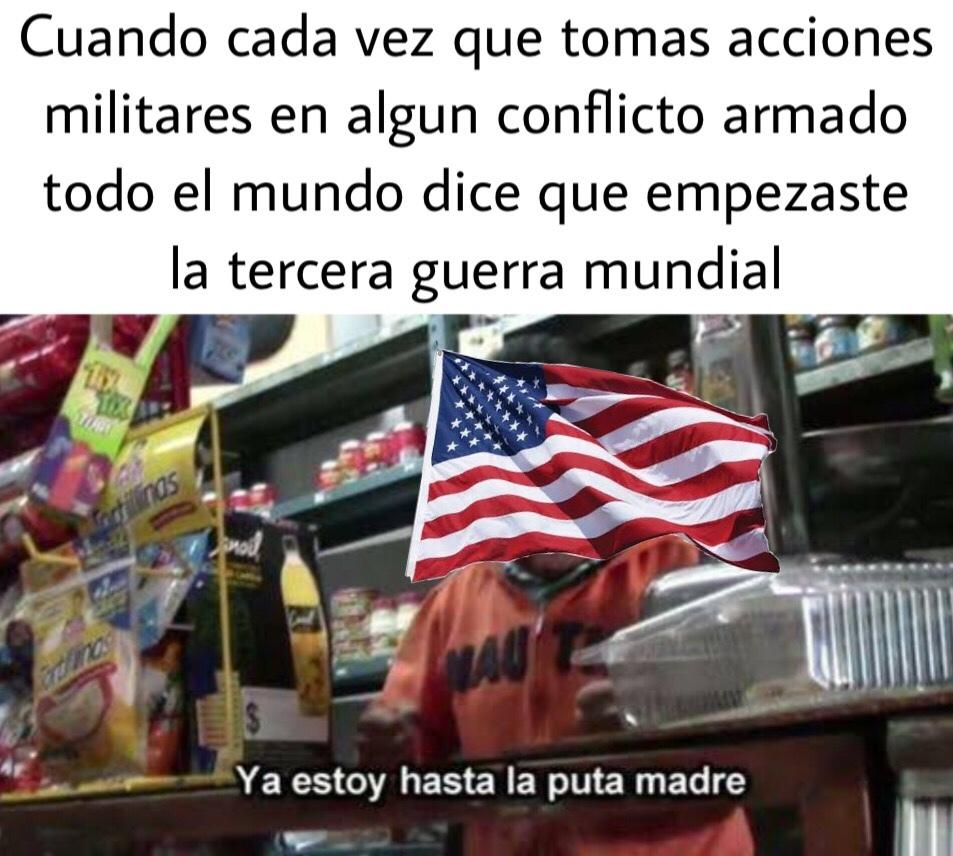 Dejen en paz a mi USA >:( - meme