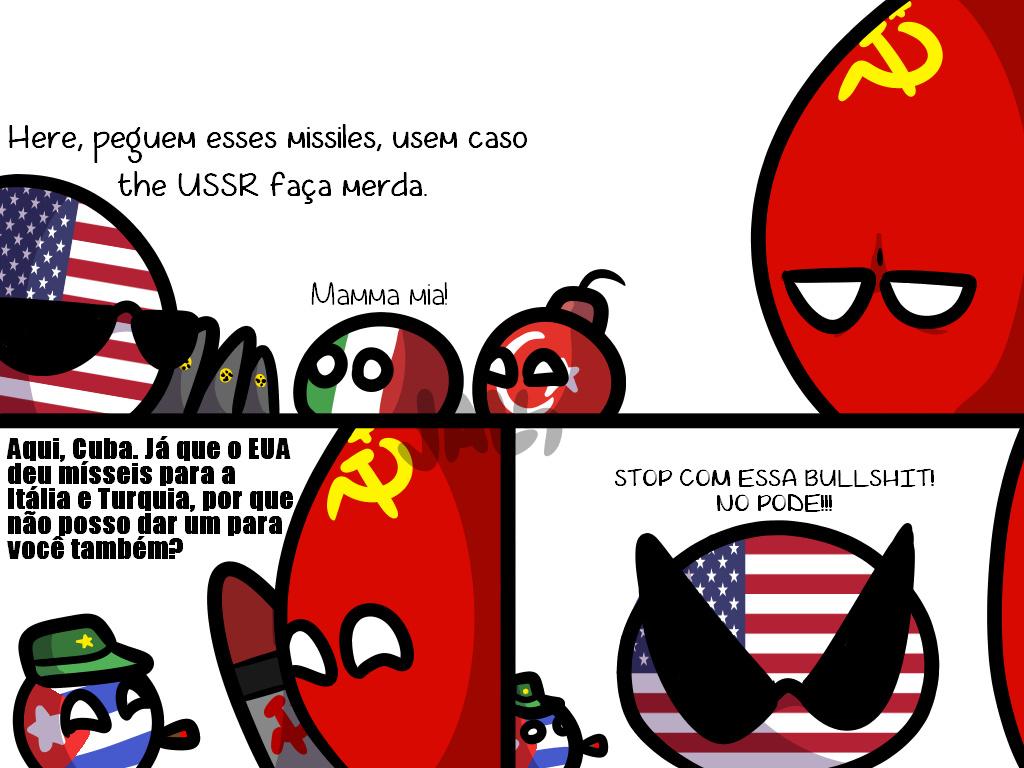 Crise dos Mísseis de Cuba na Guerra Fria - meme