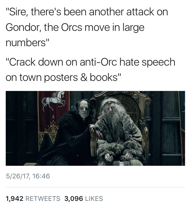 dongs in a gondor - meme