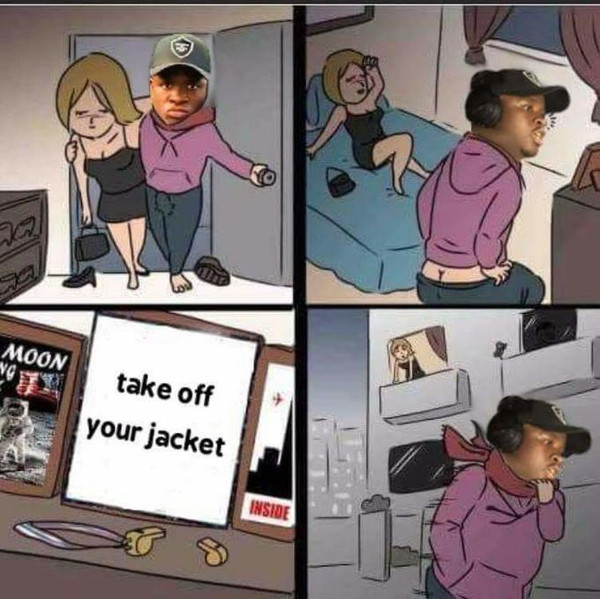 Take off your jacket - meme