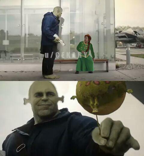 Melhor pra fora do que pra dentro - Shrek - meme