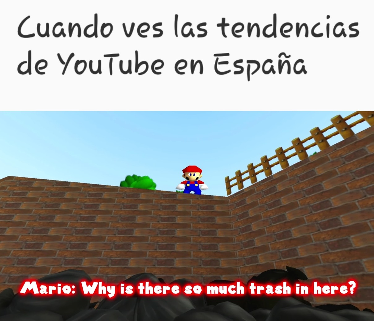 Las pinches tendencias de YouTube - meme