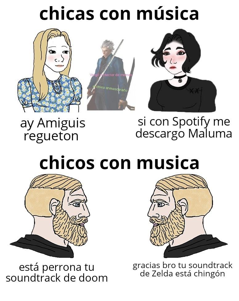 Amo tener soundtracks en mi playlist - meme