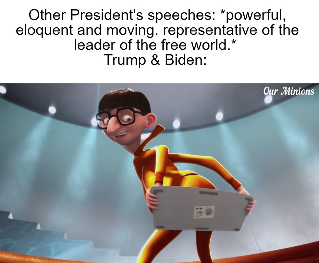 Even core supporters hate their speeches. - meme