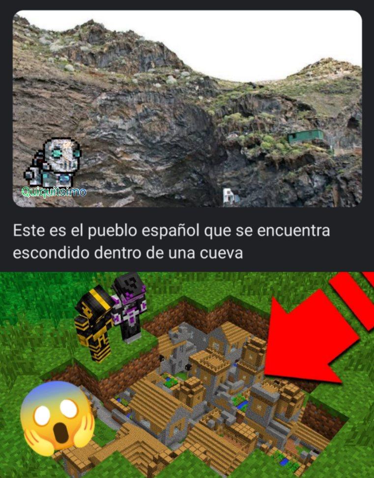 Oh por dios, entienden? España = Minecraft jajaja chistoso - meme
