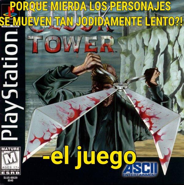 """El juego se llama clock tower para los que quieran vivir la experiencia más lenta y al mismo """"terrorífica"""" en un videojuego :fuckyeah: - meme"""