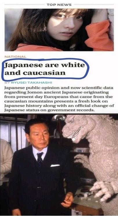 Uy si super blancos son los japos - meme