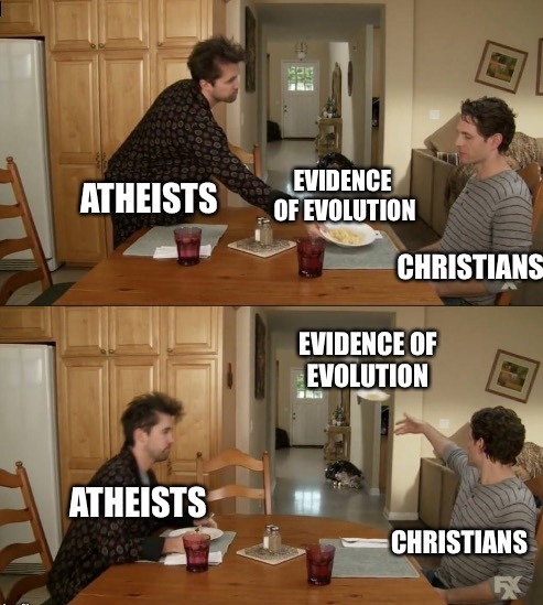 Silly Christians - meme