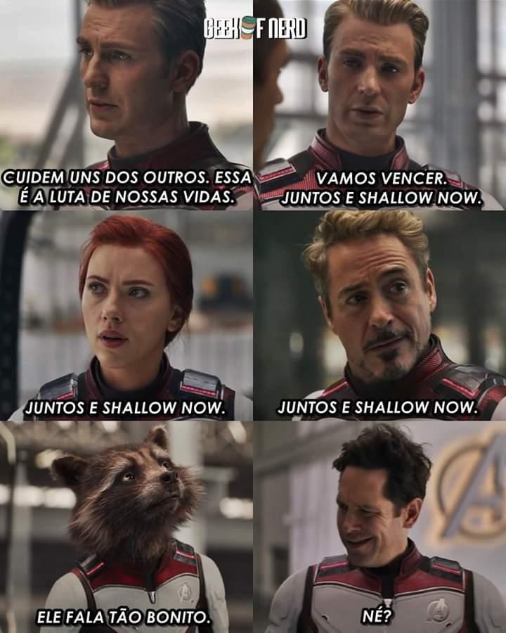 Juntos e shallow now - meme